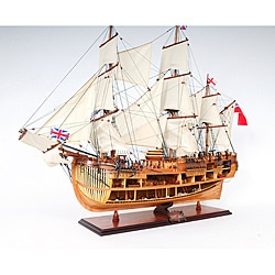 Old Modern Handicrafts 'HMS Endeavour' Open-Hull Model Ship