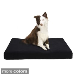Soft Touch MicroBerber Black and Blue Orthopedic Napper Pet Bed