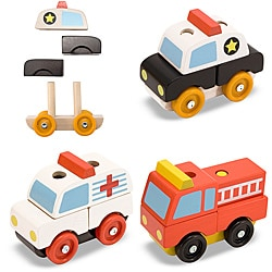 Melissa & Doug Stacking Emergency Vehicles Play Set