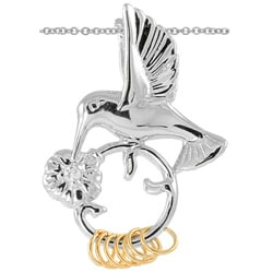 Wish Ring Sterling Silver Cubic Zirconia Hummingbird Necklace