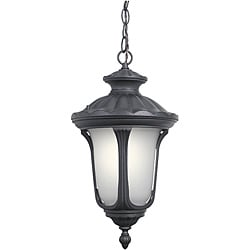 Woodbridge Lighting Westbrook 1-light Black Outdoor Chain Hung Pendant