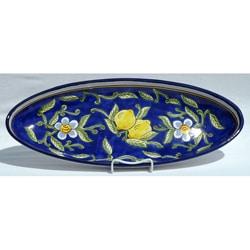 Citronique Design Ceramic 21-inch Oval Platter (Tunisia)