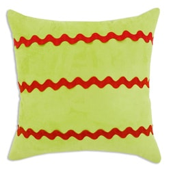 Lime Stripe Decorative Pillow