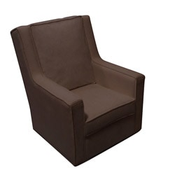 Channel Chocolate Chenille Glider