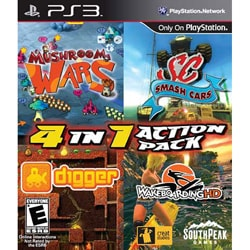 PS3 - 4 In 1 Action Pack (Mushroom Wars/Digger/Smash Cars/Wakeboard)