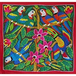 'Tropical Beauty' Tapestry (Panama) (8504499 001544 Kuna Women) photo