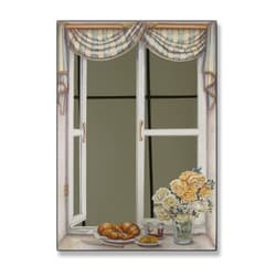 Croissant and Roses Mirror