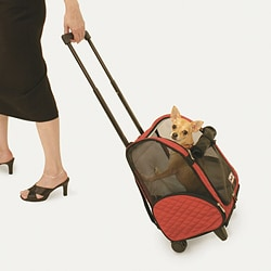 Snoozer Roll Around Red Small Travel Pet Carrier (17.5 x 12 x 8 )