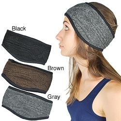 Women's Solid Cable Knit Headband (Nepal)