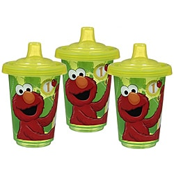 Munchkin Sesame Street 10-ounce Re-usable Twist Tight Spill-proof Cups (Pack of 3)
