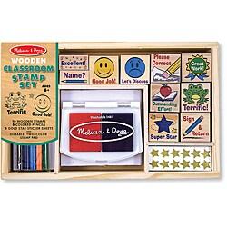 Melissa & Doug Classroom Stamp Set with Pencils, Stickers, Stamp Pad 8601782
