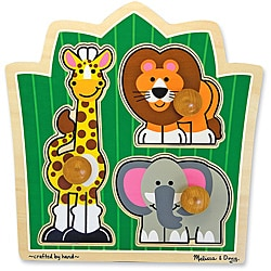 Melissa & Doug Jungle Friends Safari Jumbo Knob Puzzle
