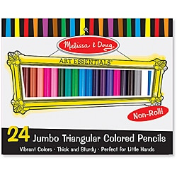 Melissa & Doug 24-piece Jumbo Triangular Colored Pencils Set