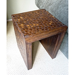 Coconut Shell Accent Table tropical accent tables