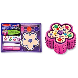 Melissa & Doug DYO Wooden Flower Chest