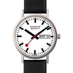 Mondaine Classic Men's Stainless Steel White Dial Watch