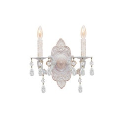 Sutton Antique White 2-light Wall Sconce