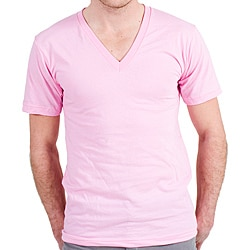 American Apparel Fine Jersey Pink V-Neck Top (X-L)