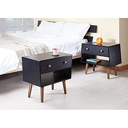 Nova Matte Black Night Stands/ End Tables (Set of 2)