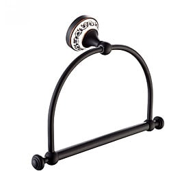 Kraus Apollo Oil Rubbed Bronze Towel Ring Bathroom Accessory