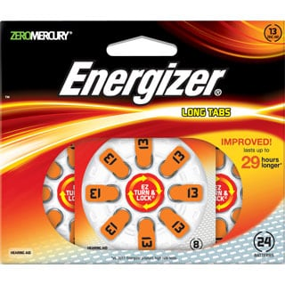 Energizer EZ Turn & Lock Hearing Aid Battery