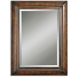 Uttermost Rowena Distressed Mahogany Framed Mirror