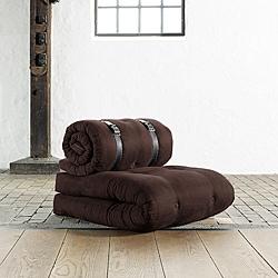 Fresh Futon 'Buckle Up' Chocolate Futon Chair