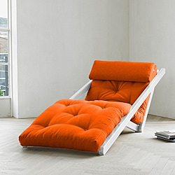 Figo Orange Fresh Futon Sleeper Lounger