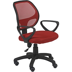 Percy Red/Black Mesh Offfice Chair