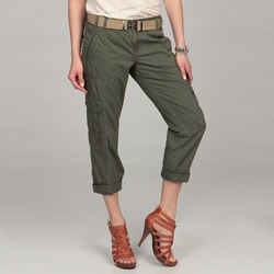 Calvin Klein Women's Rosemary Belted Cropped Pants