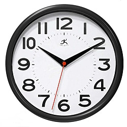 Metro 9-inch Black Resin Wall Clock