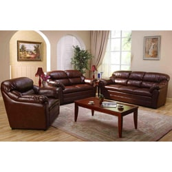 Mayatoba Brown Sofa Set - Sofa + Loveseat + Chair