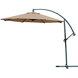 Gale Pac 10-foot Mocha Cantilever Umbrella