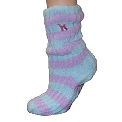 Women's Lavender-Infused Purple/ Blue Chenille Socks