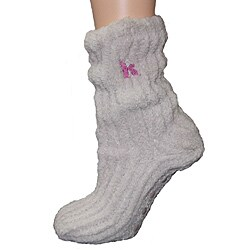 Women's Lavender-Infused Oatmeal Chenille Socks