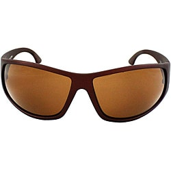 Men's Warp Brown Matte Sunglasses with Brown Lenses