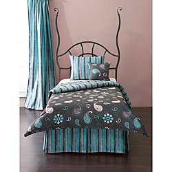 French Quarter 4-piece Reversible Twin-size Duvet Cover and Insert Set