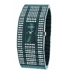 Haurex Italy Natrual Crystals Teal Blue Policarbonate Watch