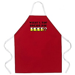Attitude Aprons 'Recipe for Beer' Red Apron