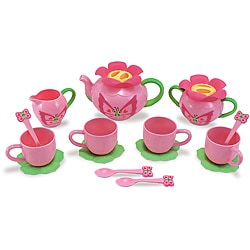 Melissa & Doug 17-piece Bella Butterfly Plastic Play Tea Set