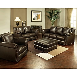Ebiza 4-piece Top Grain Leather Sofa Set