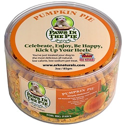 Ark Naturals 4-ounce Paws in the Pie Pumpkin Pie Large Dog Treats