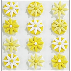 Jolee's Confections 'Yellow Fondant Flowers' Stickers
