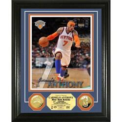 New York Knicks Carmelo Anthony Gold Coin Photo Mint