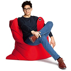 Sitting Bull Medium Bull Red Bean Bag Chair