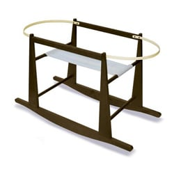 Jolly Jumper Rocking Moses Basket Stand in Espresso