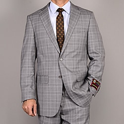 Giorgio Fiorelli Men&#39;s Gray Plaid Suit