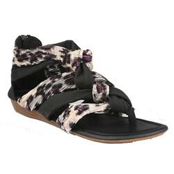 Neway by Beston Women s 'Heida-02' Black Braided Gladiator Sandals (9041891 L&k Footwear) photo