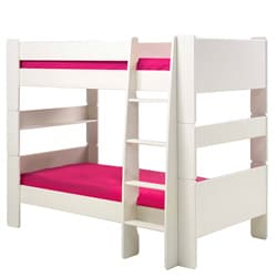 Popsicle White Twin-over-Twin Bunk Bed