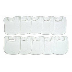 Neat Solutions Terry Feeder Bibs in White (Pack of 10)